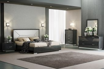 ✅ Monte Leone Panel Bedroom Set, Grey | VivaSalotti.com | pic
