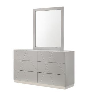 ✅ Naples Grey Dresser and Mirror | VivaSalotti.com | pic
