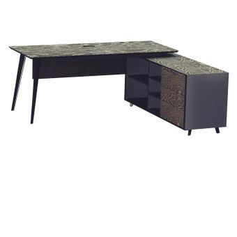 Oslo Executive Desk with Right Return Cabinet