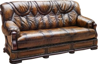 Apolo Brown Italian Leather Chair by ESF