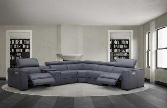 Picasso 6Pc Motion Modular Sectional, Blue Grey