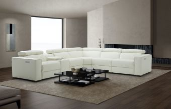 Picasso 6Pc Motion Modular Sectional, White