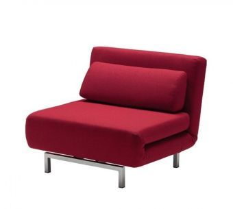 ✅ LK06-1 Chair Bed in Red Fabric | VivaSalotti.com | pic1