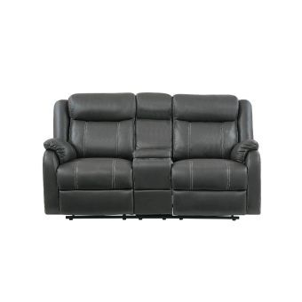U7303C Console Loveseat With Drop Down Table & Drawer