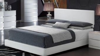 8103 White Gloss Queen Bed