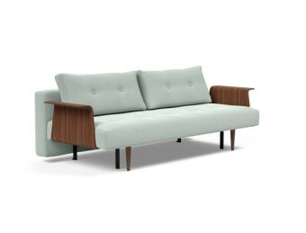 Recast Plus Sofa Bed Dark Styletto With Arms, 552 Soft Pacific Pearl