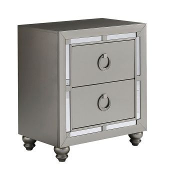 Riley Silver Nightstand