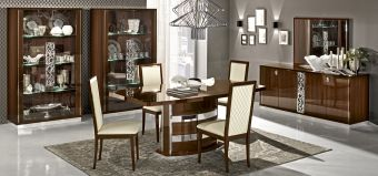 ✅ Roma Dining Room Set Walnut by ESF | VivaSalotti.com | pic