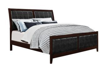 Rosa Antique Black Queen Bed