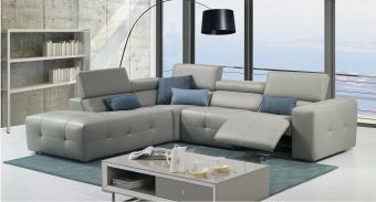 ✅ S300 Premium leather Sectional With Left Hand Facing Chaise | VivaSalotti.com | pic2