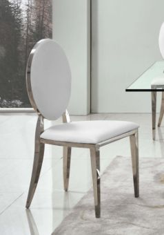 151 Modern Dining Room Silver Legs Chair