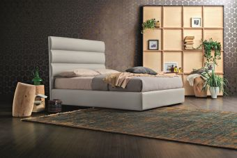 Sir King Bed In Light Grey