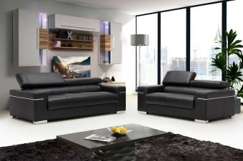 ✅ Soho Sofa Set in Black | VivaSalotti.com | pic