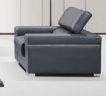 Soho Chair in Grey Leather