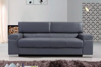 Soho Sofa in Grey Leather