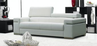 Soho Sofa in White Leather