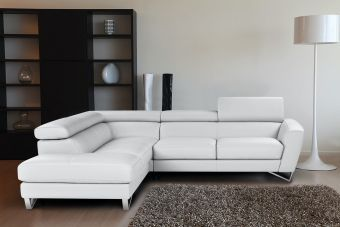 ✅ Sparta Left Hand Facing Sectional in White | VivaSalotti.com | pic2