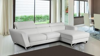Sparta Mini Right Hand Facing Chaise in White