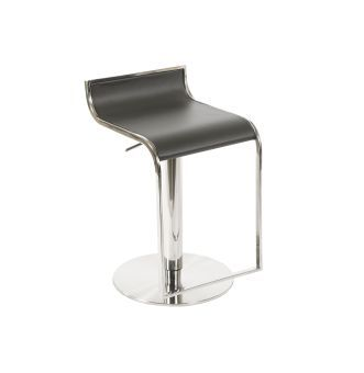 ✅ C027B-3 Grey Leather Barstool | VivaSalotti.com | pic1