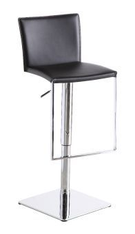 ✅ C183B-3 Black Leather Barstool | VivaSalotti.com | pic