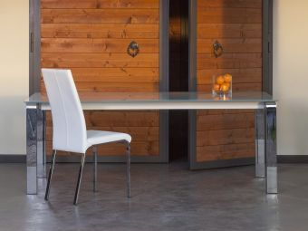 LOTO Dining Chair in White Leather
