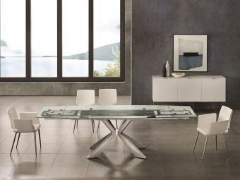 ✅ ICON Motorized Dining Table in Clear Glass | VivaSalotti.com | pic