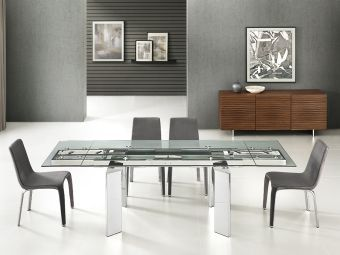 ✅ ASTOR Motorized Dining Table in Clear Glass | VivaSalotti.com | pic