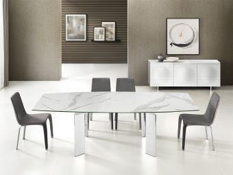 ✅ ASTOR Motorized Dining Table in White Marble | VivaSalotti.com | pic8