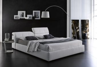 ✅ Tower King Storage Bed in White | VivaSalotti.com | pic