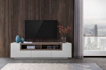 ✅ TV002 Grey Gloss/Brown Oak | VivaSalotti.com | pic11