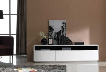 ✅ TV Stand 023 in White High Gloss | VivaSalotti.com | pic1