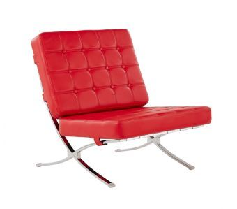 6293 Accent Chair, Red