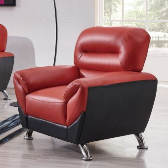 U9105 Chair Red and Black