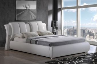 8269 White PU Bed by Global USA