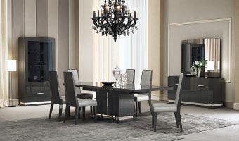 ✅ Valentina Modern Dining Room Set with Extendable Table, Grey | VivaSalotti.com | pic