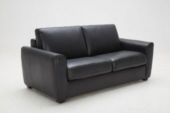 ✅ Ventura Sofa Bed in Black Leather | VivaSalotti.com | pic1