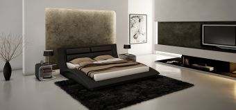 ✅ Wave King Size Bed in Black | VivaSalotti.com | pic1