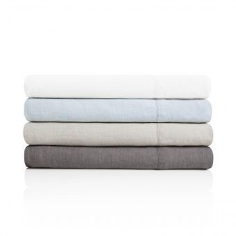 Woven French Linen Sheet Set, Split King, Flax
