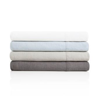 Woven French Linen Sheet Set, Split King, Smoke