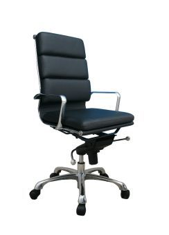 Plush Black High Back Office Chair