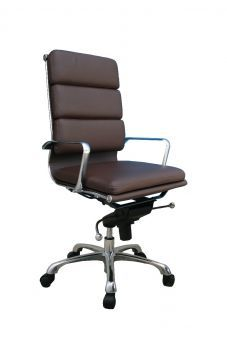 ✅ Plush Brown High Back Office Chair | VivaSalotti.com | pic2