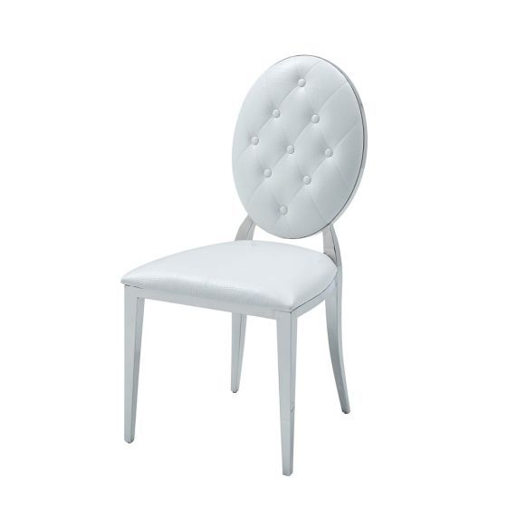 ✅ 110 Side Dining Chair White by ESF | VivaSalotti.com | pic5