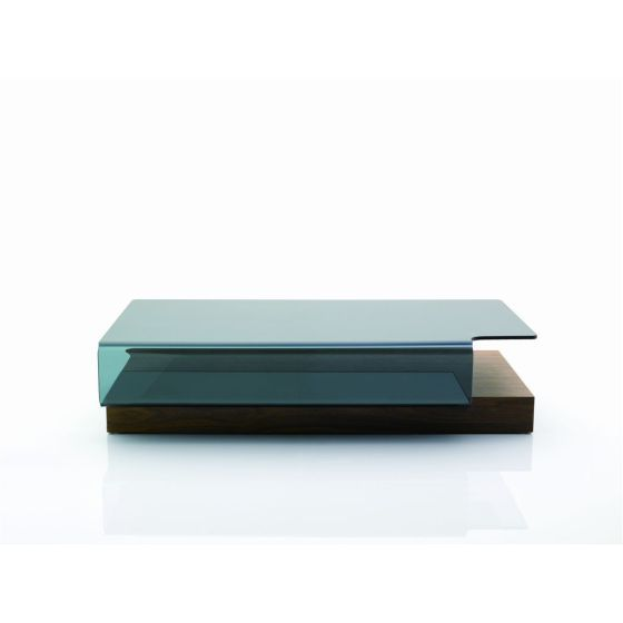 ✅ Modern Coffee Table 953A, Dark Walnut/Glass | VivaSalotti.com | pic1