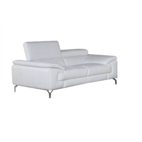 ✅ A973 Premium Leather Loveseat, White | VivaSalotti.com | pic