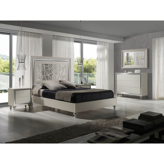 ✅ Alba Premium Wood Platform Bedroom Set, Natural Oak Veneer | VivaSalotti.com | pic