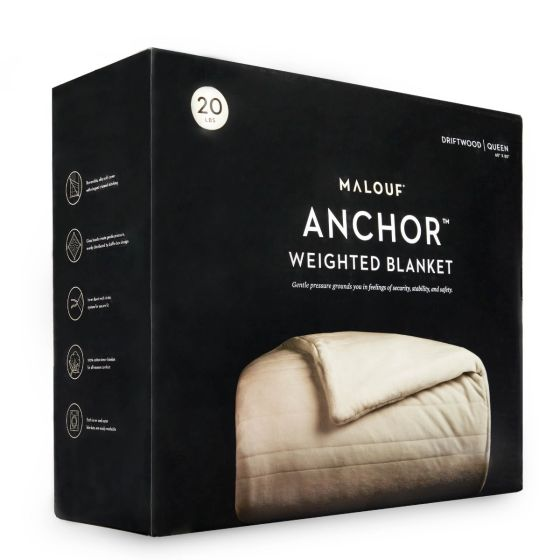"""✅ Anchor™ Weighted Blanket, 60"""" x 80"""", 12 lbs, Driftwood 