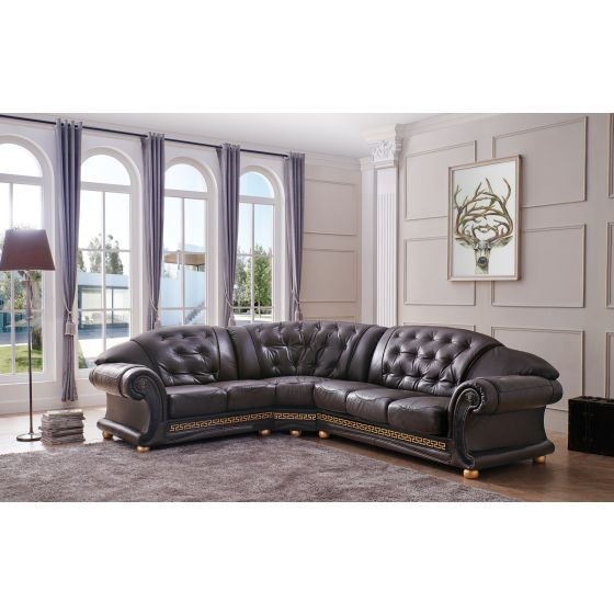 ✅ Apolo Sectional Brown Left by ESF | VivaSalotti.com | pic8