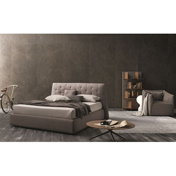 ✅ Atrium Fabric Tufted King Size Storage Bed, Taupe Grey | VivaSalotti.com | pic