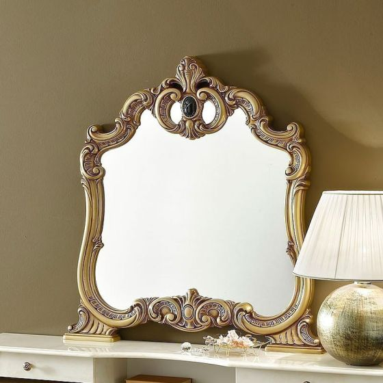 ✅ Barocco Mirror Ivory and Gold by ESF | VivaSalotti.com | pic