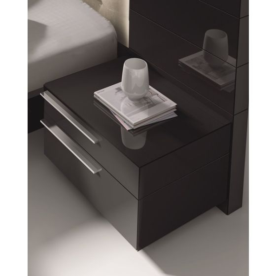 ✅ Beja Modern Right Facing Nightstand, Black | VivaSalotti.com | pic